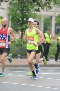 Brian Shelton runs the Nashville Marathon April 30, 2016.