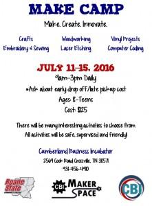 Make Camp Flyer