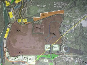 A proposed master plan for the PowerCom Industrial Center. Photo/Liz Engel