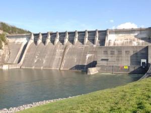 Center Hill Dam.