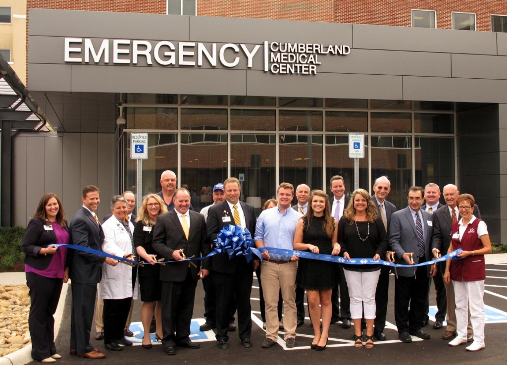 Cumberland Medical Center staff and officials along with Covenant Health officials cut the ribbon on a new $6.3 million emergency room. UCBJ Photo/Jim Young