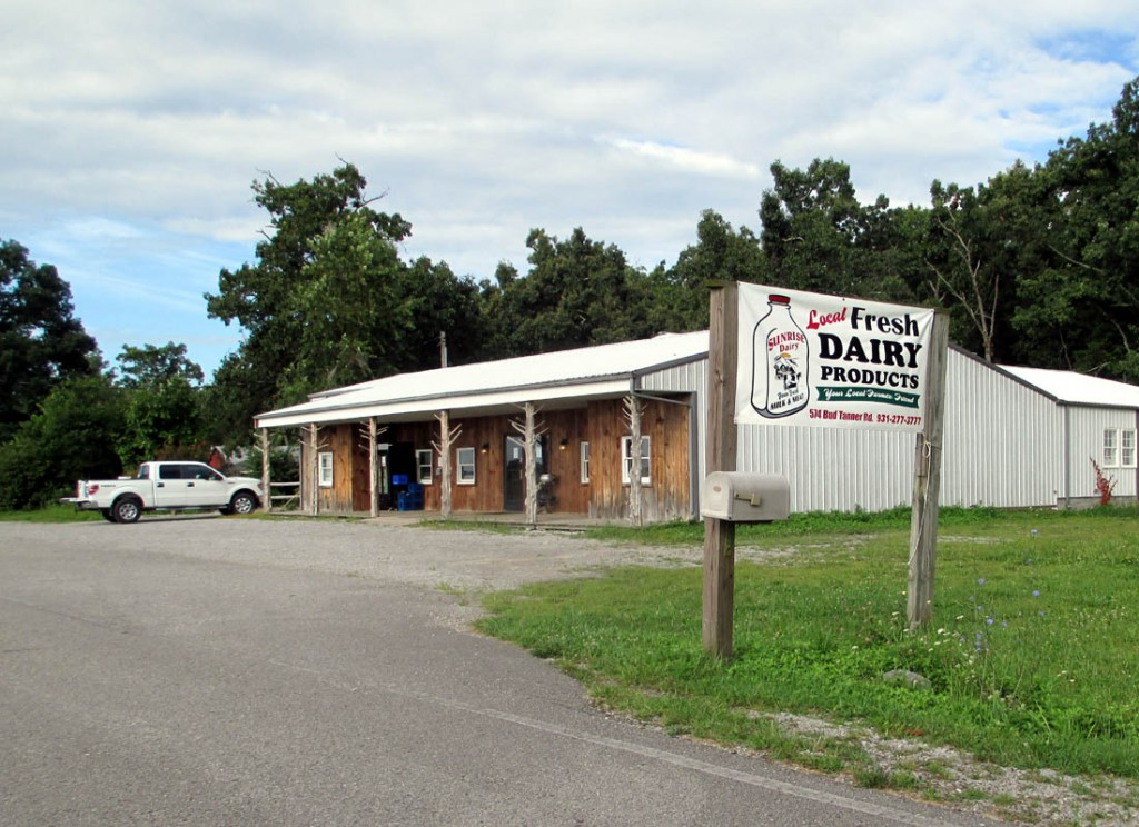 Sunrise Dairy has its own retail store on Bud Tanner Road off Highway 70N in Mayland, 10 miles west of Crossville. In addition to milk and fresh butter, the store sells beef and pork as well as other products. UCBJ Photo/Jim Young
