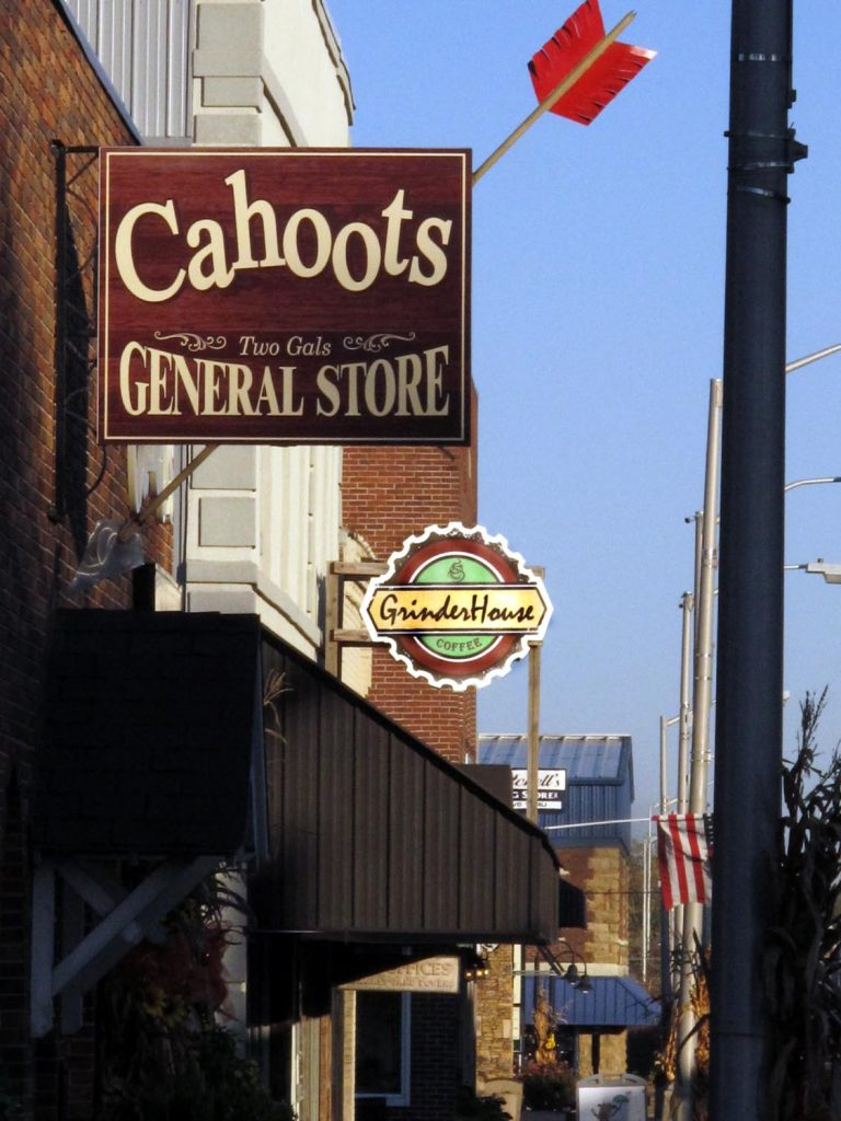 Downtown Crossville shops include the four-year-old Cahoots and the newer Grinder House Coffee shop in the same block on Main Street.