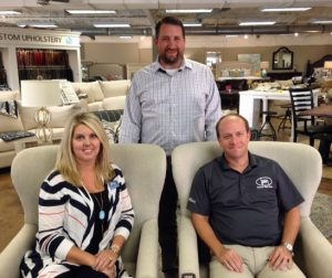 A handful of exhibitors have already signed on for the 2017 Home & Garden Show, including, from left, seated, Shannon Johnson, The Realty Firm; Jeremy Gunter, Hoover Paint; and, standing, Jacob Shaffield, Shaffield's Furniture.