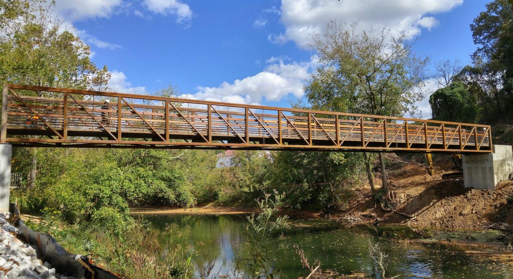 J. Cumby Construction recently completed work on a pedestrian bridge in Sparta.
