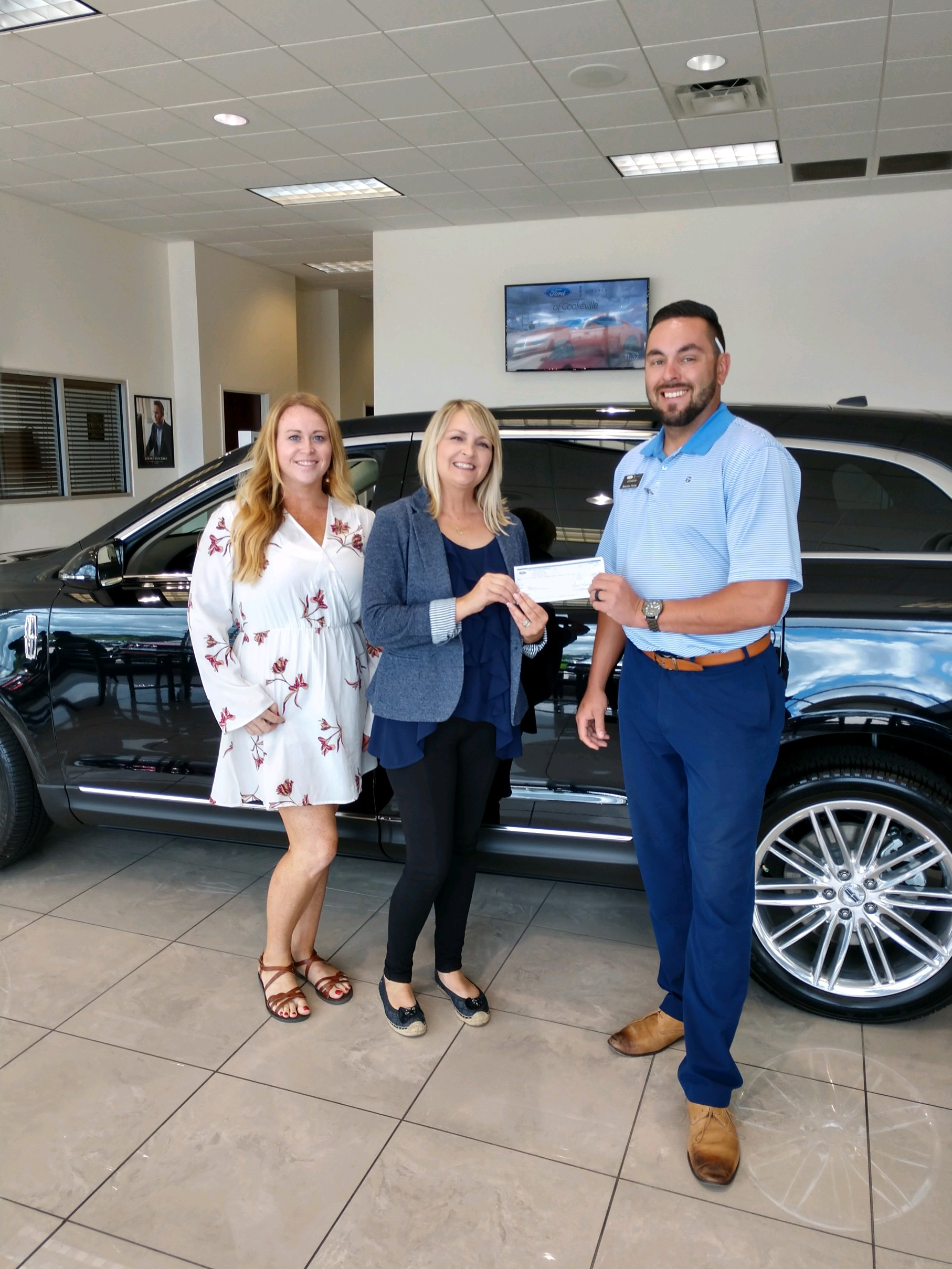 Manager with wcte celeste flatt bennett corporate sales manager wcte brandon farley marketing and public relations ford lincoln of cookeville