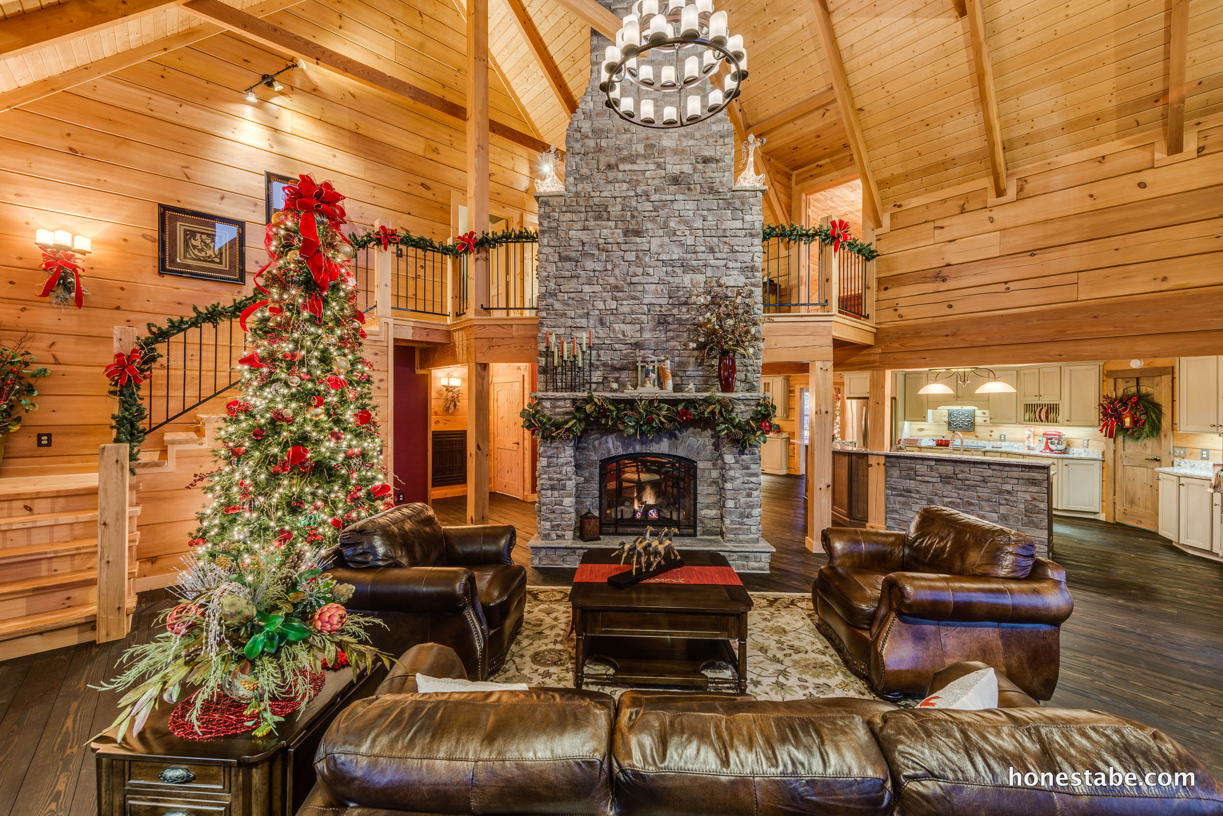 Crossville A Christmas Tour Of Log And Timber Frame Homes Hosted By Honest Abe